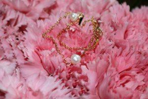 Halskette vergoldet mit Süßwasserzuchtperle
