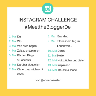 Meet the Blogger DE Challenge