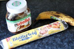 Zutaten_Blätterteigtaschen gefüllt mit Banane-Nutella, eileens good vibes