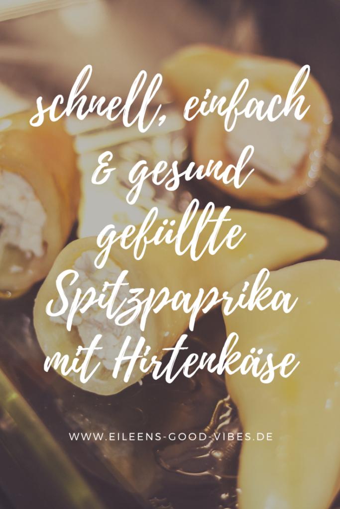 Pinterest Bild zu gefüllte Spitzpaprika mit Hirtenkäse