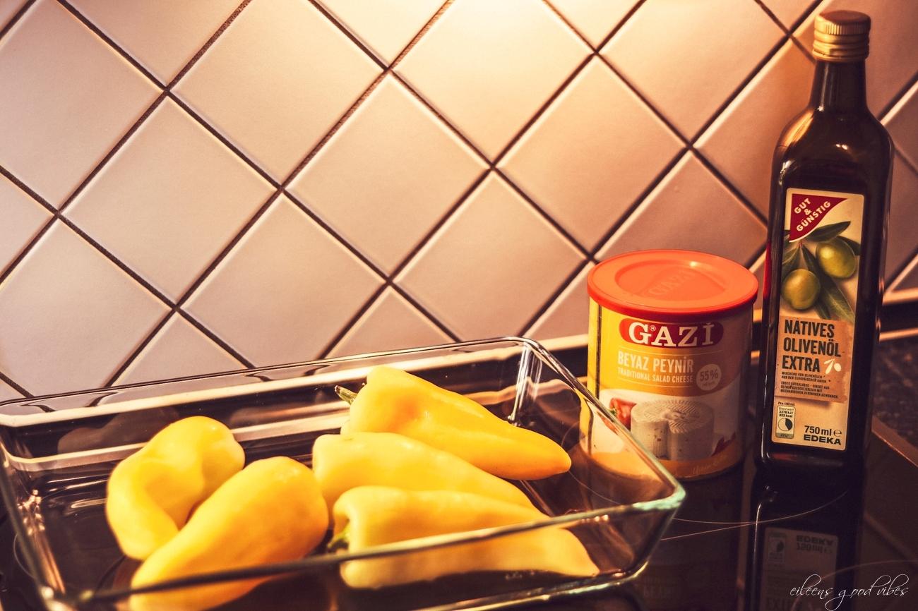 gefüllte Paprika mit Hirtenkäse, Zutaten, Rezeptidee, eileens good vibes