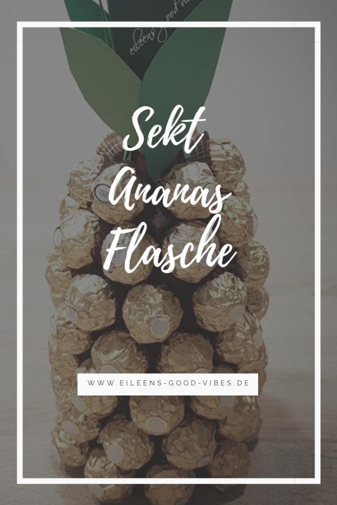 Sekt Ananas Flasche, Geschenkidee, eileens good vibes