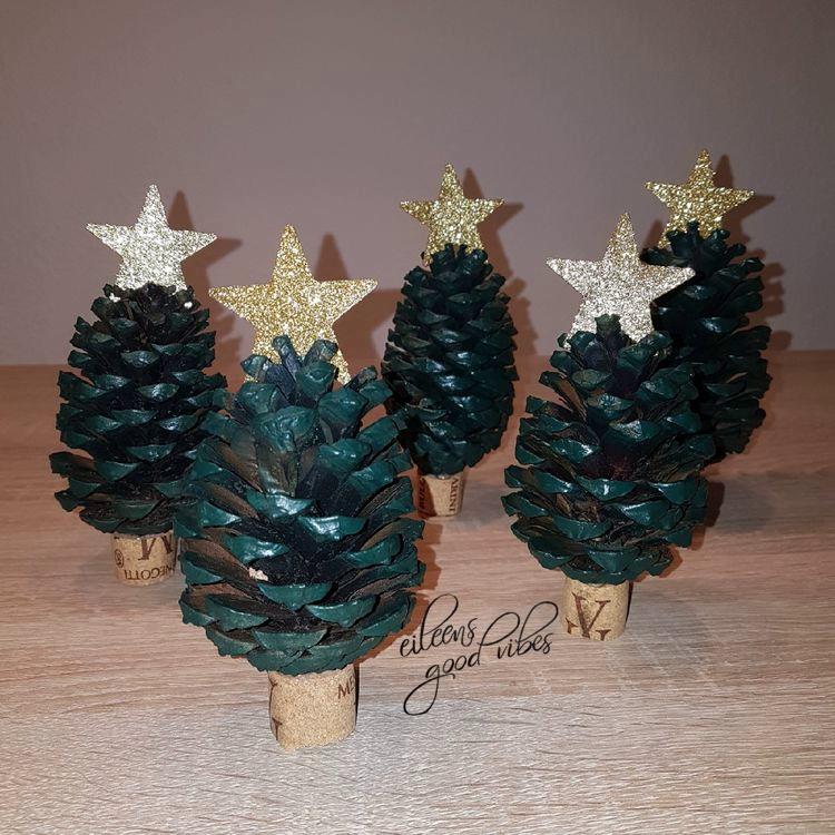 DIY Tannenzapfen Weihnachtsbaum, Deko, Christmas tree, eileens good vibes