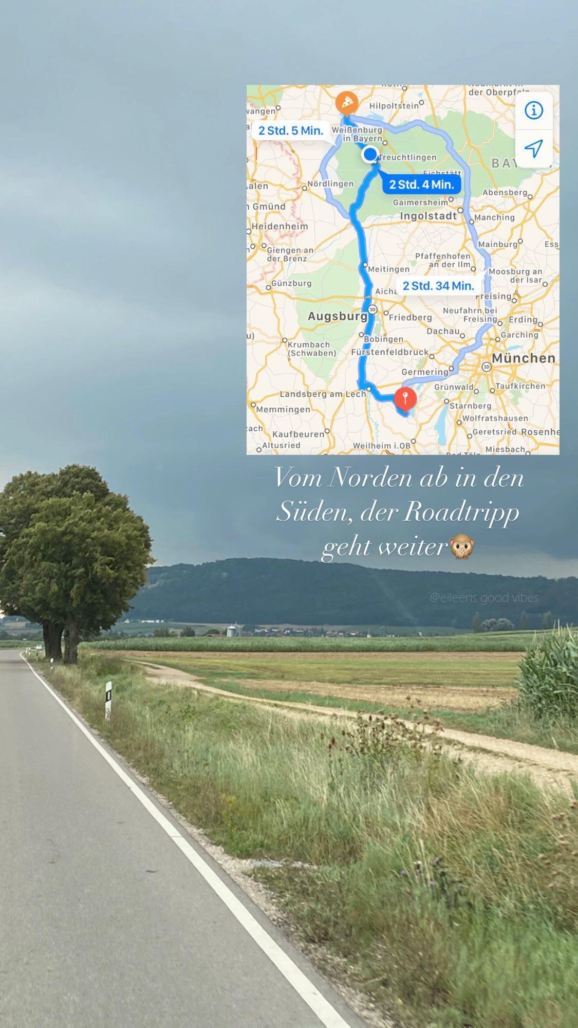 Monatsrückblick August: Wohnmobil Road Trip Kartenansicht
