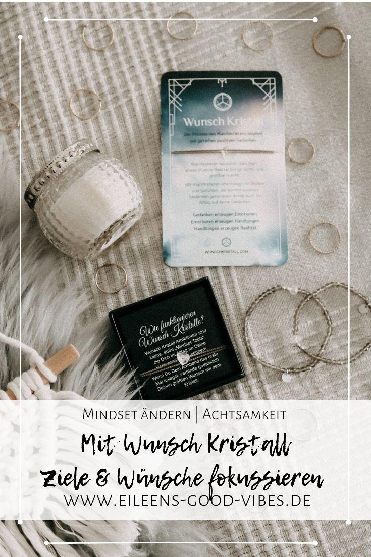 Pinterest PIN Bild abgebildet sind Wunsch Kristall Armbänder
