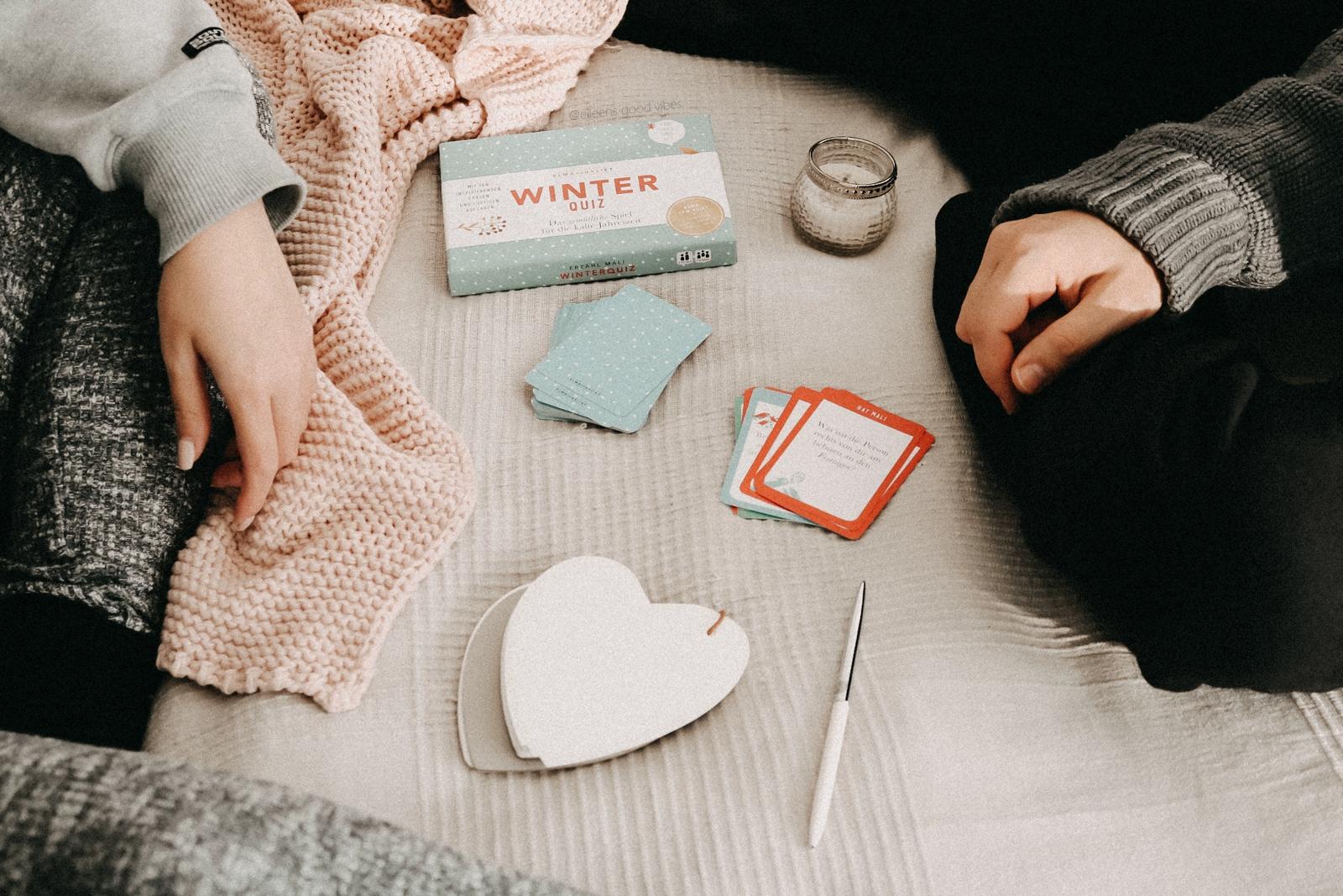 Mein Mann und ich spielen das Winter Quiz