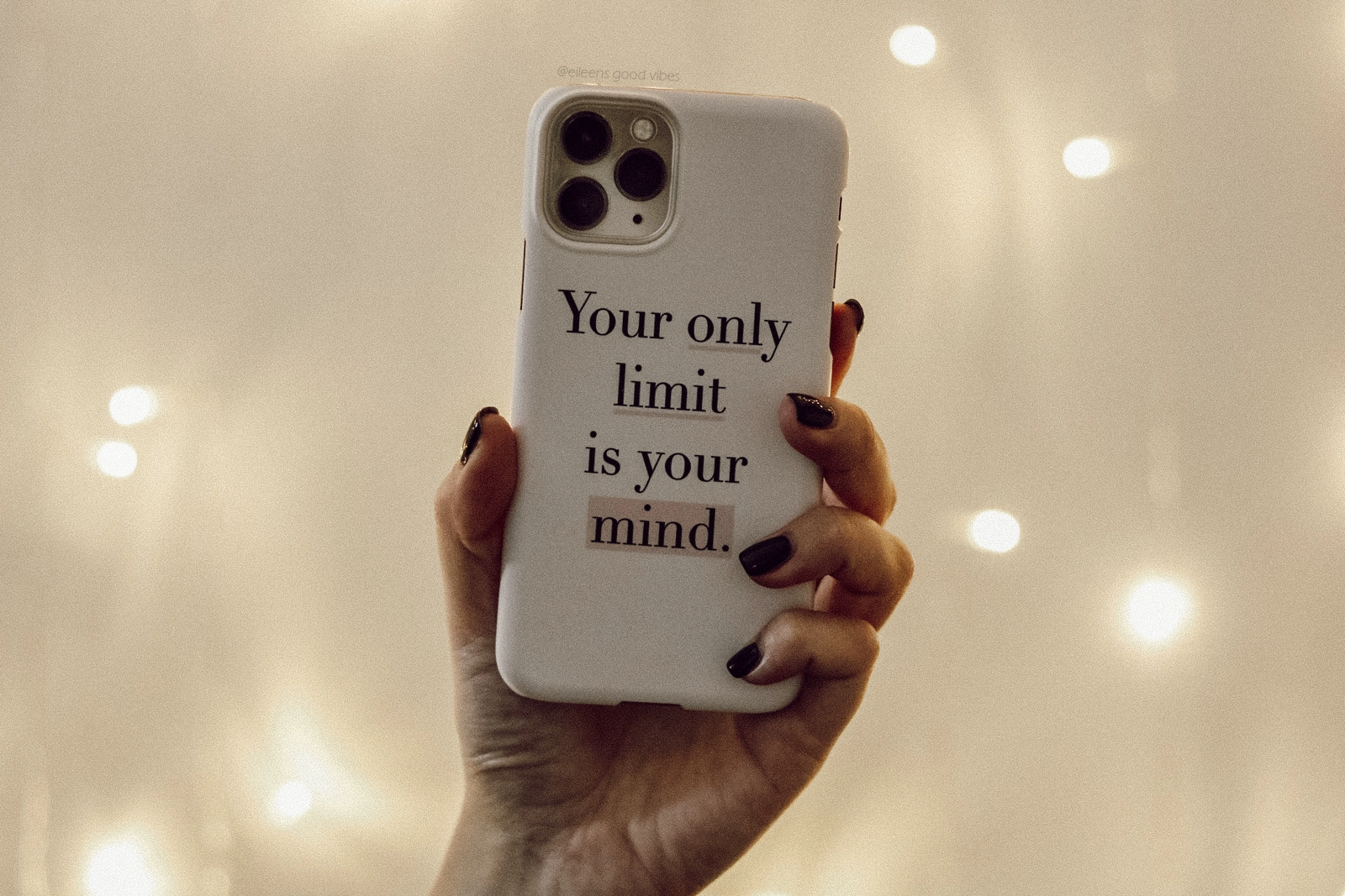 Handyhülle mit dem Spruch Your only limit is your mind