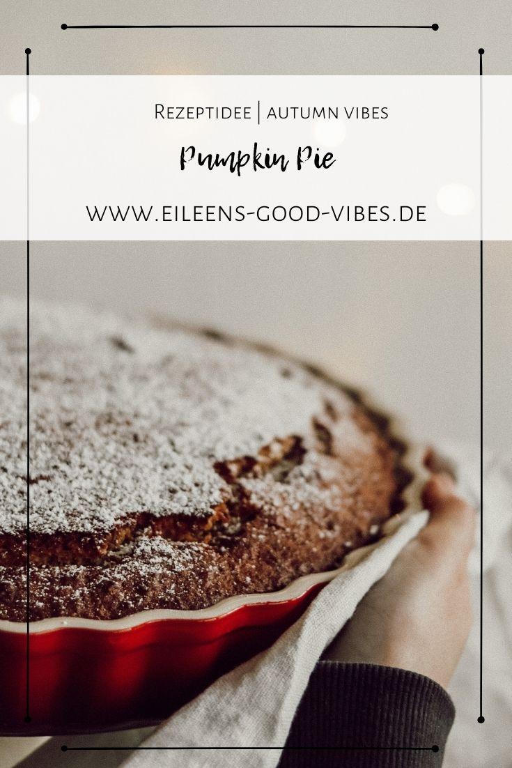 Pinterest Pin Bild für das Pumpkin Pie Rezept