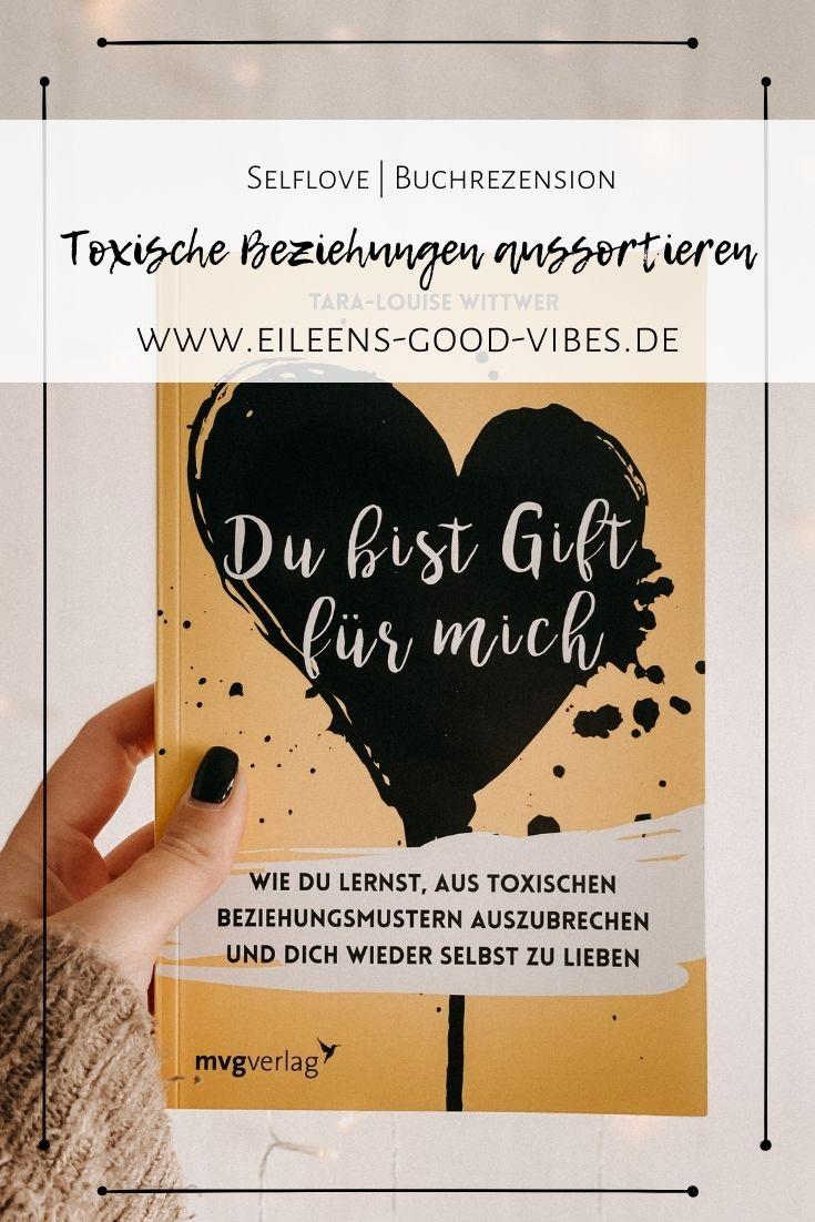 Pinterest Pinbild über das Buch Du bist Gift für mich - toxische Beziehungen