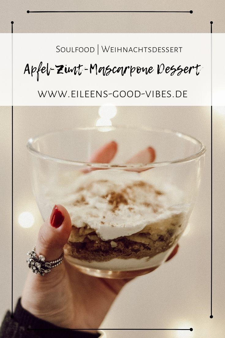 Weihnachtsdessert Apfel-Zimt-Mascarpone im Glas